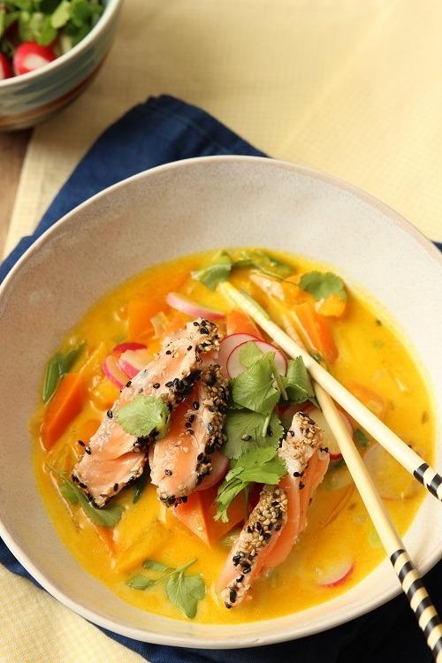 Rezept Kokossuppe mit Lachs