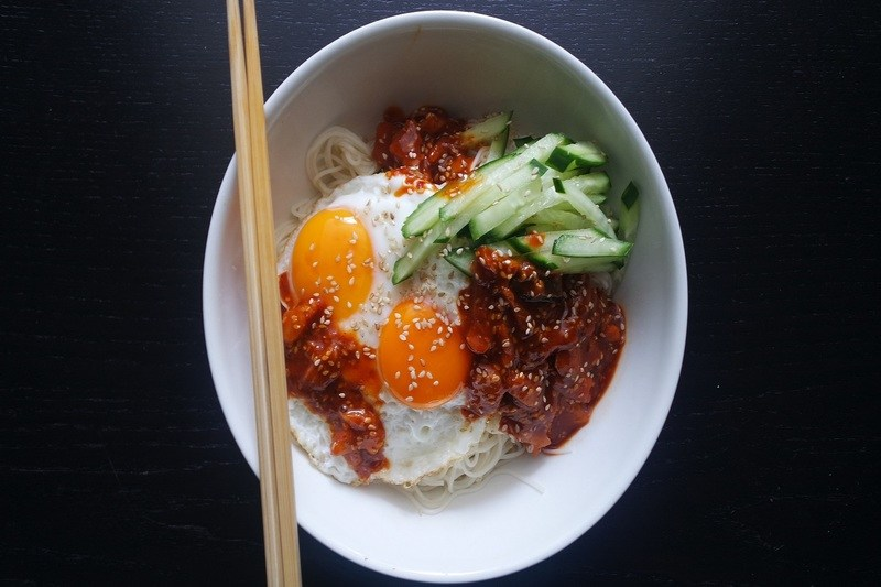 Rezept Koreanische kalte Nudeln