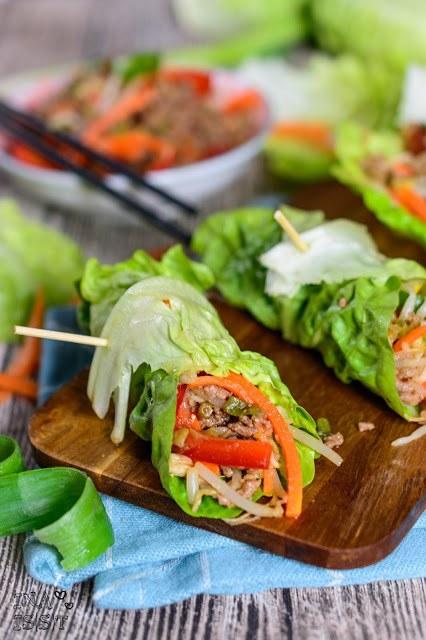 Rezept Koreanische Salatwraps mit Hackfleisch
