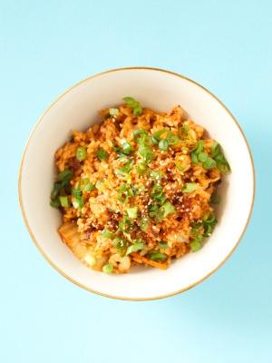 Rezept Koreanischer Gebratener Reis mit Kimchi