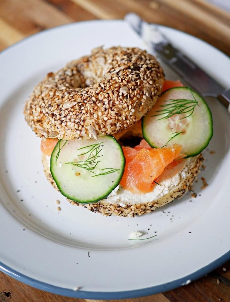 Rezept Körner Bagel mit Lachs und Frischkäse