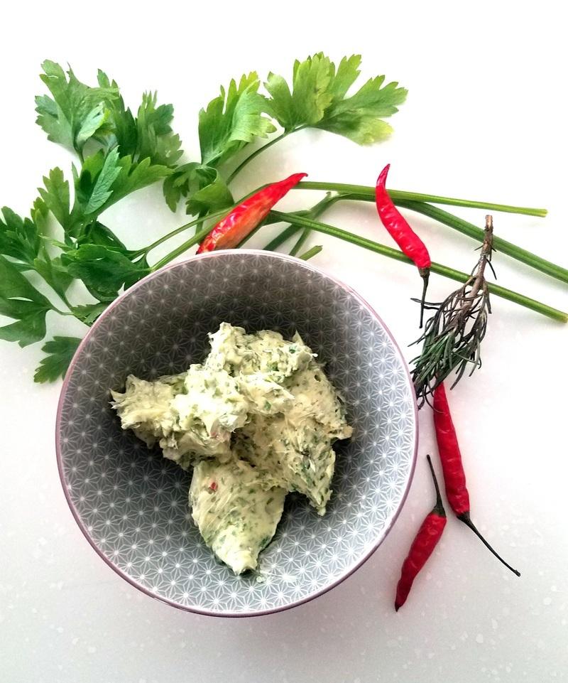 Rezept Kraeuter-Chili Butter