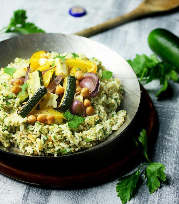 Rezept Kräuterreis mit Grillgemüse