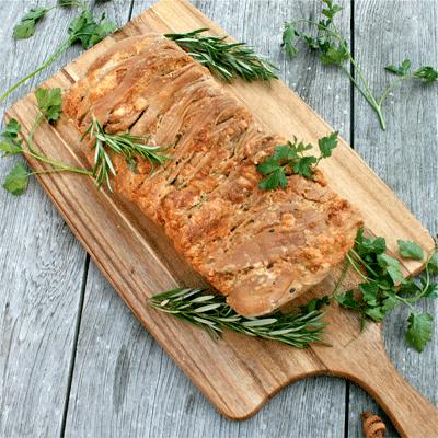 Rezept Kräuterzupfbrot mit Käse