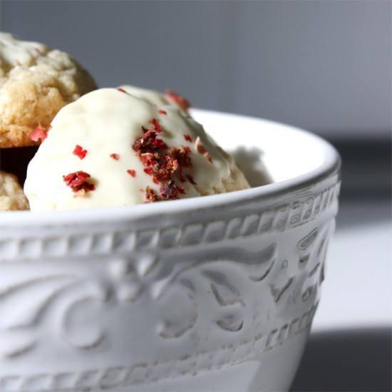 Rezept Küchlein mit weißer Schokolade & rosa Pfeffer