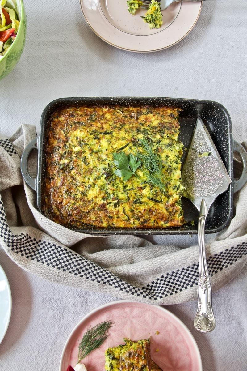Rezept Kuku Kadoo Sabz - Zucchini Omelette nach persischer Art