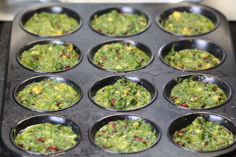 Rezept Kuku Sabzi - persisches Kräuteromelette