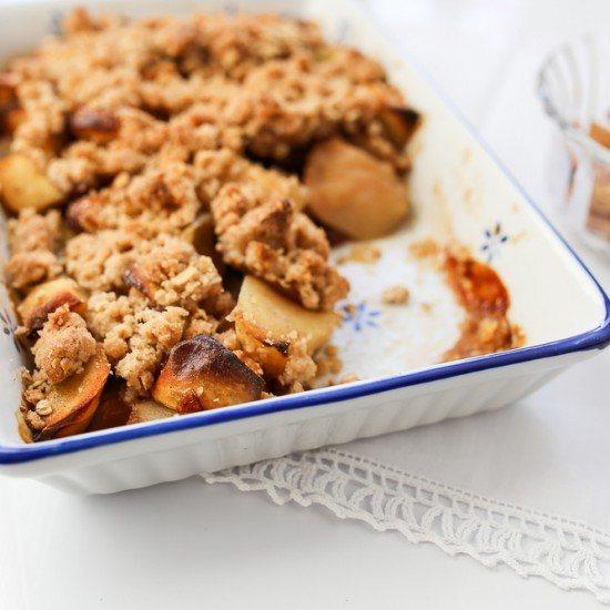 Rezept Kürbis-Apfel Crumble