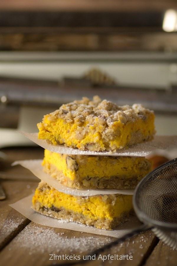 Rezept Kürbis-Cheesecake mit Knusperstreuseln