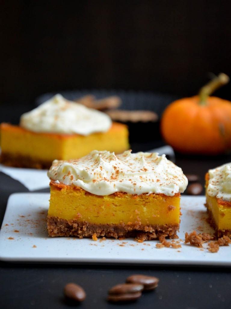Rezept Kürbis-Cheesecake mit Spekulatiusboden