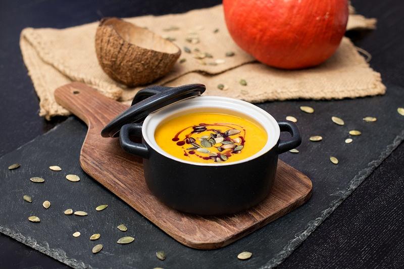 Rezept Kürbis-Cremesuppe mit Kokos & Curry