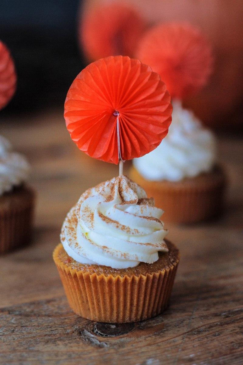 Rezept Kürbis Cupcakes