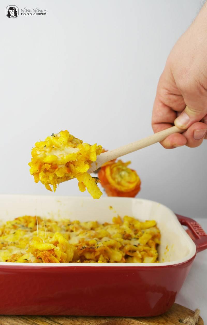 Rezept Kürbis-Käsespätzle mit Curry und Thymian