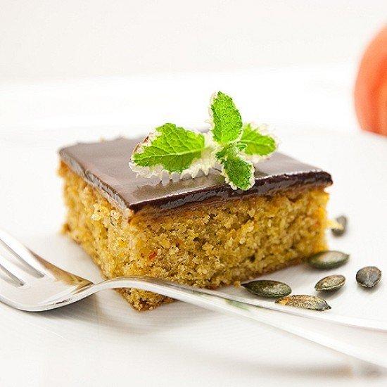 Rezept Kürbis Kuchen mit Schokoglasur Rezept