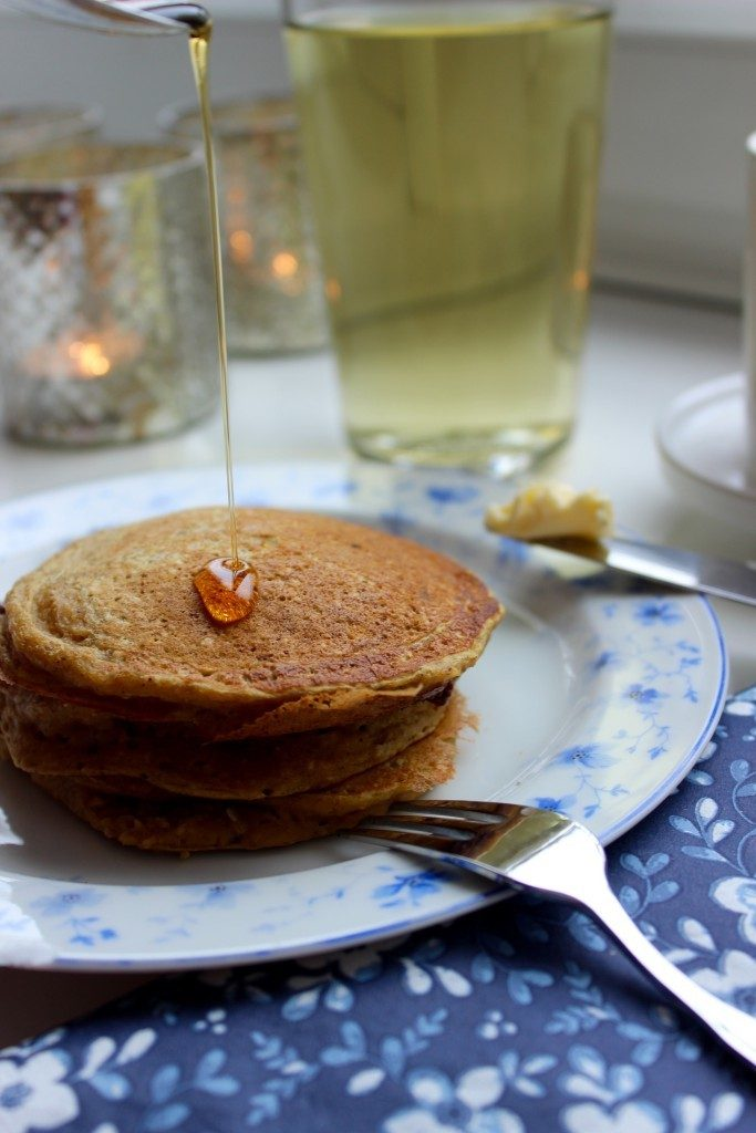 Rezept Kürbis Pancakes. Glutenfrei.