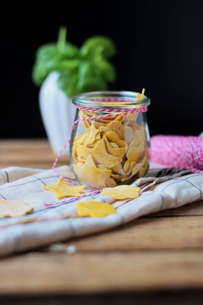 Rezept Kürbis Pasta als Geschenk oder mit cheesy Meatballs