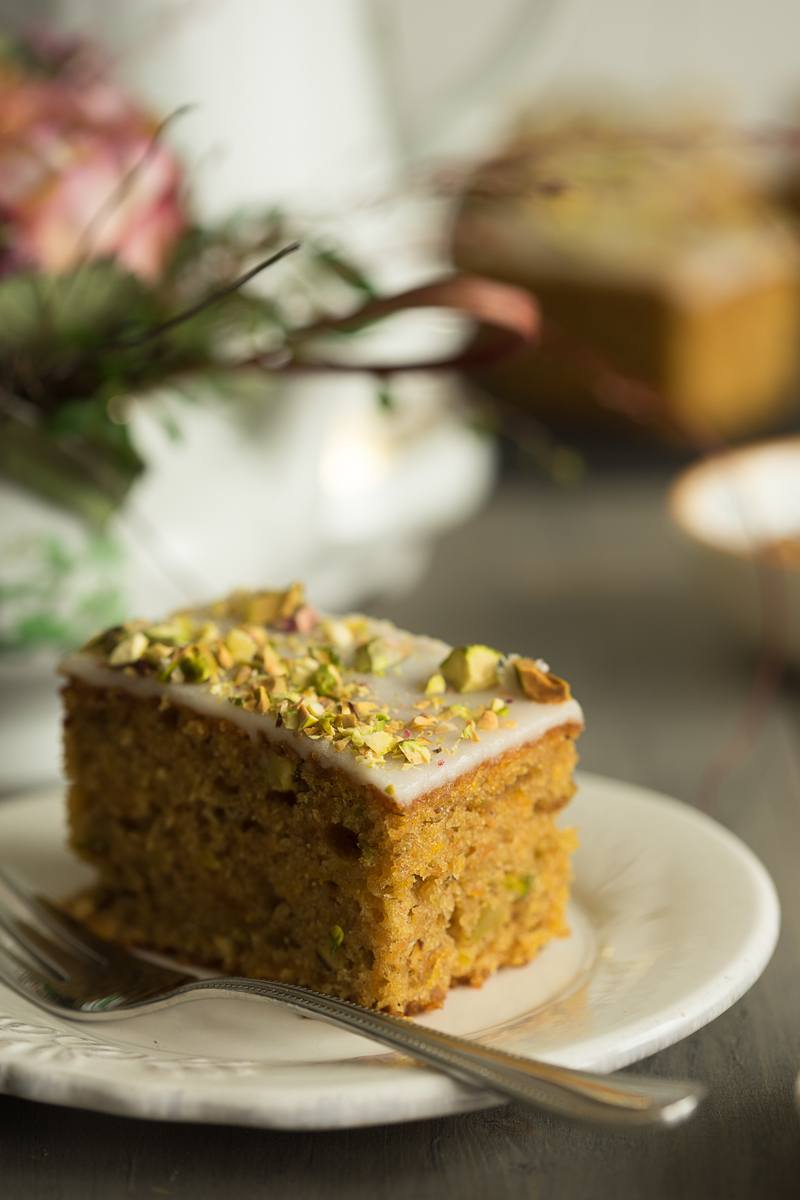 Rezept Kürbis Pistazien Kuchen