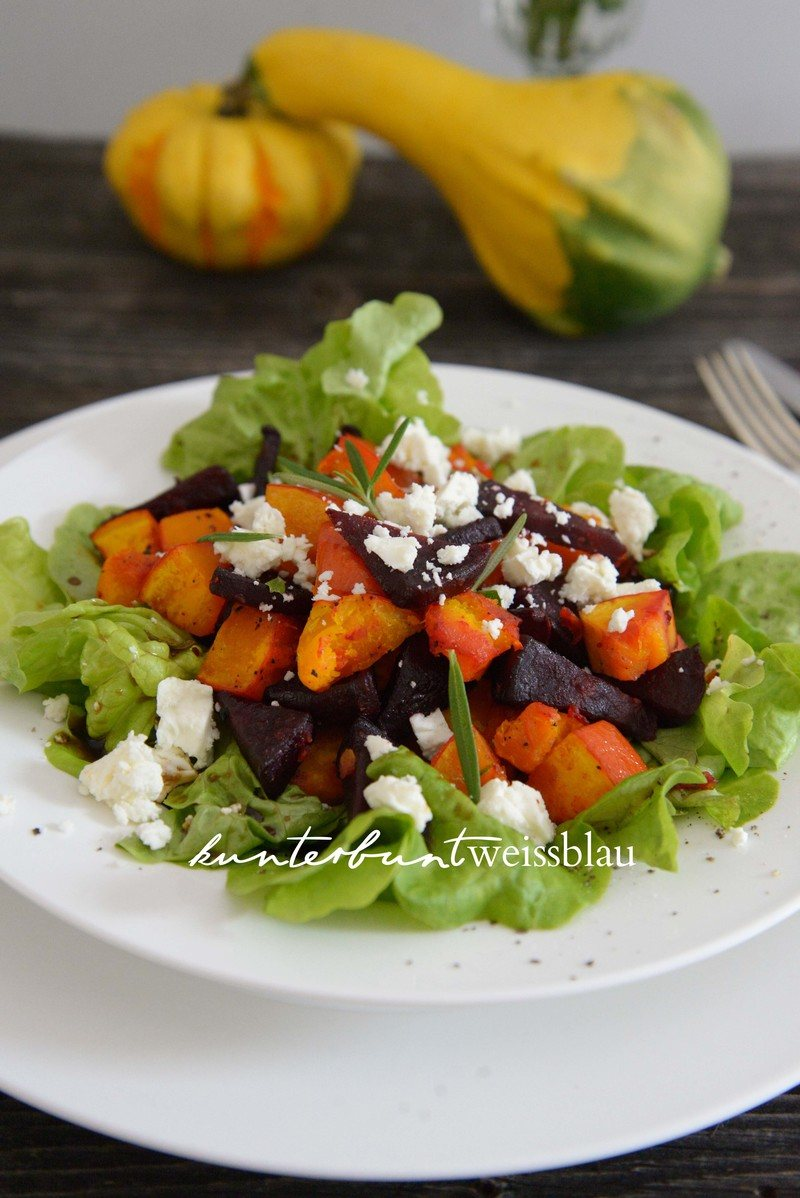 Rezept Kürbis Rote Beete Salat