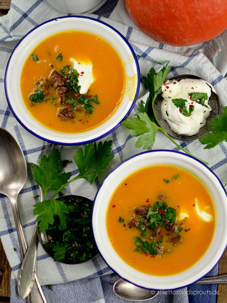 Rezept Kürbis-Suppe mit Hack