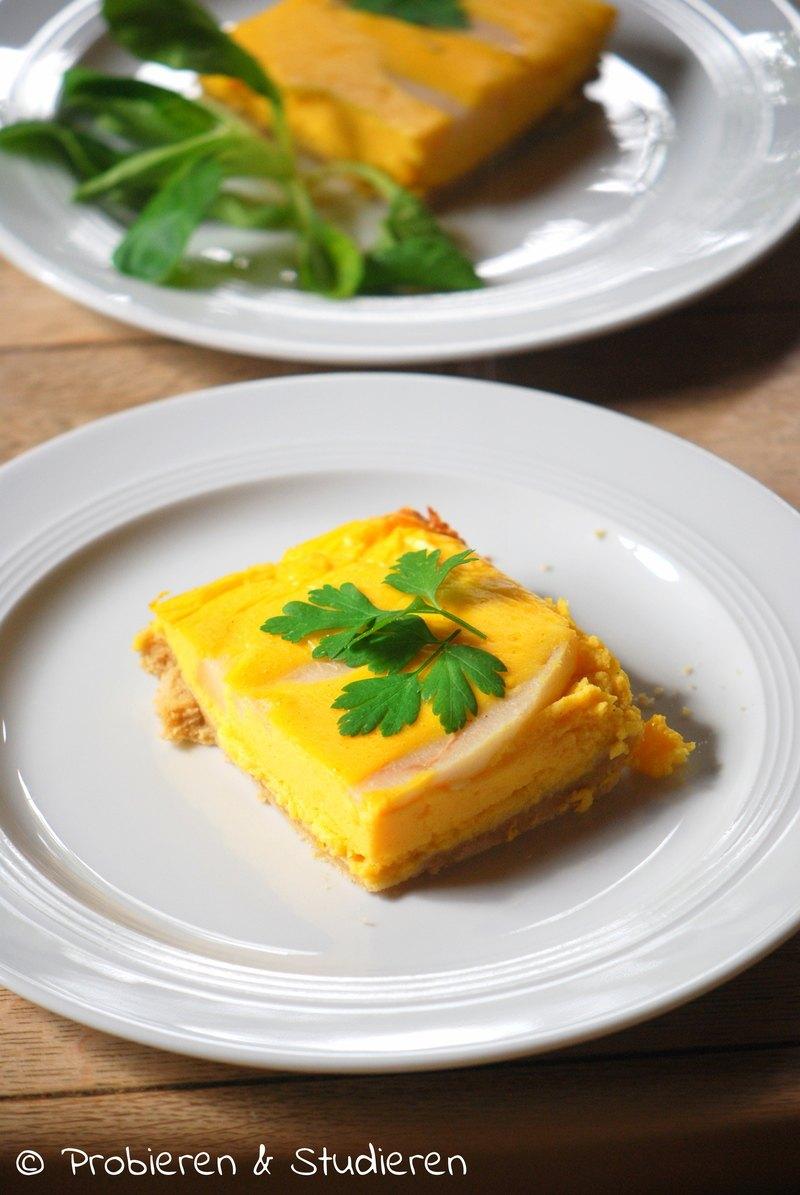 Rezept Kürbis-Tarte mit Feldsalat