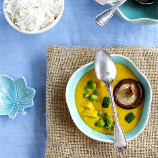 Rezept Kürbiscurry mit Shiitake und Huhn