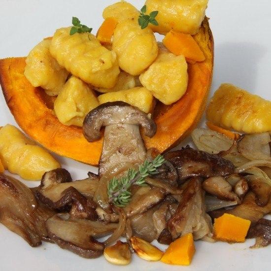 Rezept Kurbisgnocchi mit Steinpilzen