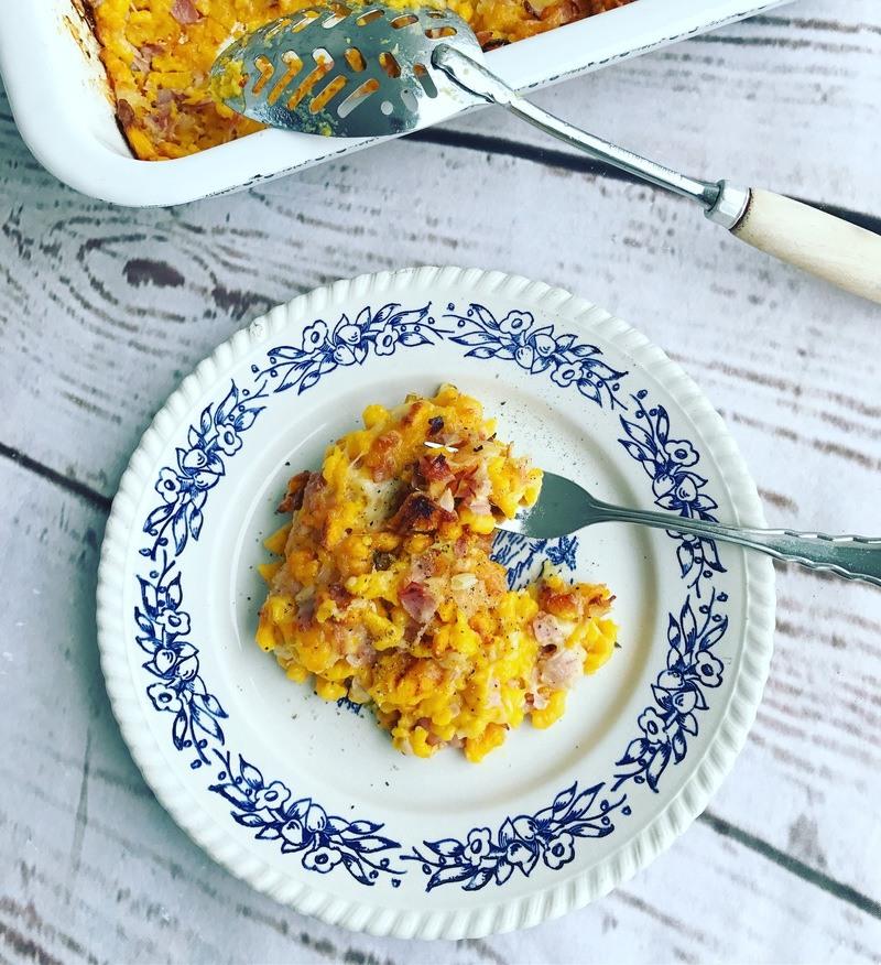 Rezept Kürbisspätzle mit Schinken und Käse