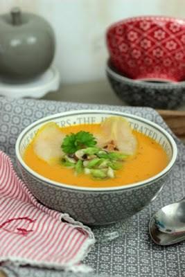 Rezept Kürbissuppe mit karamelisierten Birnen