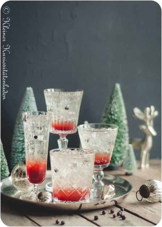 Rezept La Geniévre ~ Cocktail und Granatapfelsirup