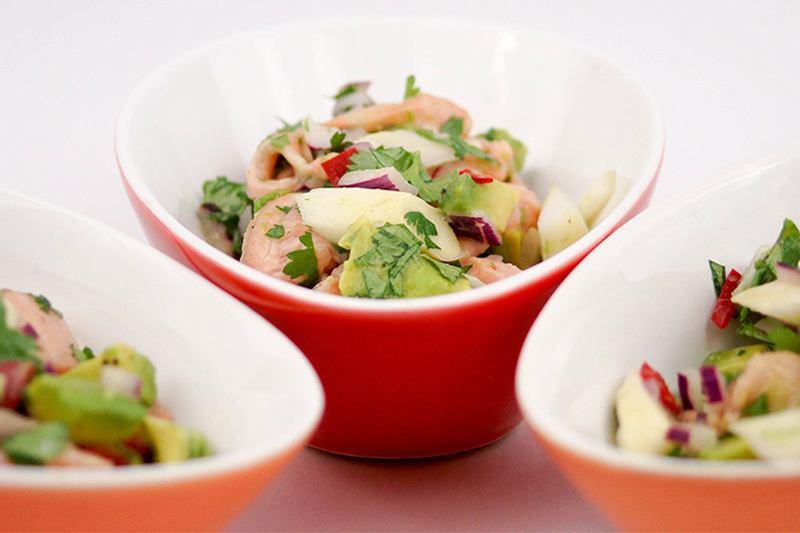 Rezept Lachs Ceviche mit weißem Spargel