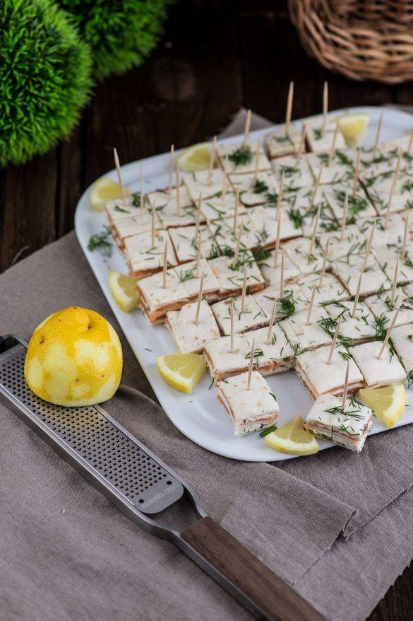 Rezept Lachs Frischkäse Fingerfood Häppchen als Partysnack