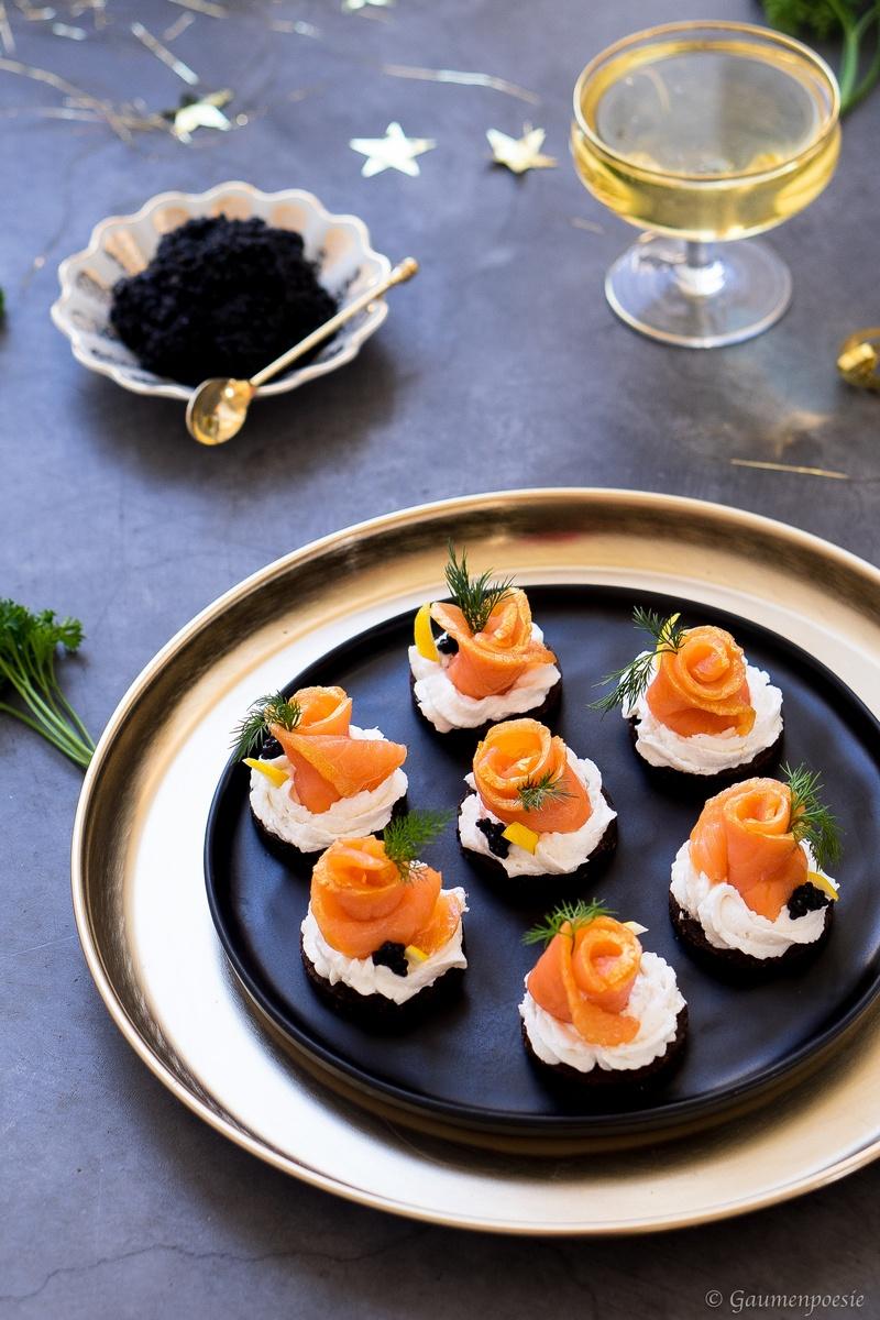 Rezept Lachs-Häppchen mit Pumpernickel und Meerrettich
