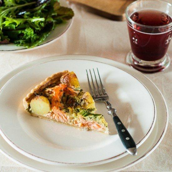 Rezept Lachs-Kartoffel-Tarte
