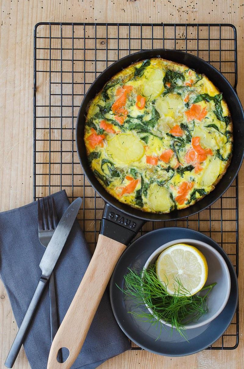 Rezept Lachs-Mangold Fritatta