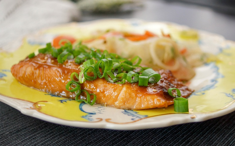 Rezept Lachs mit einer japanischen Glasur