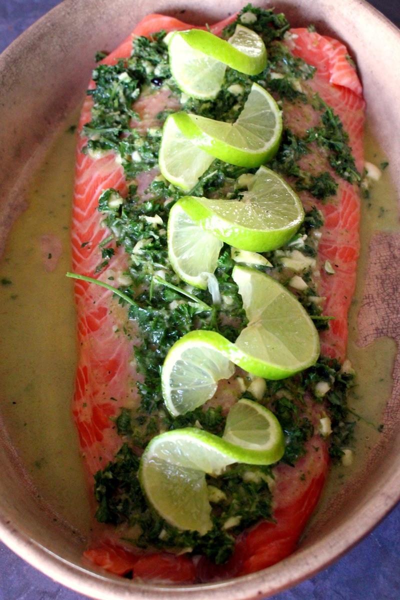 Rezept Lachs mit Petersilien-Lime Pesto