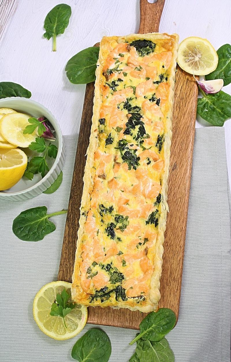 Rezept Lachs Spinat Quiche