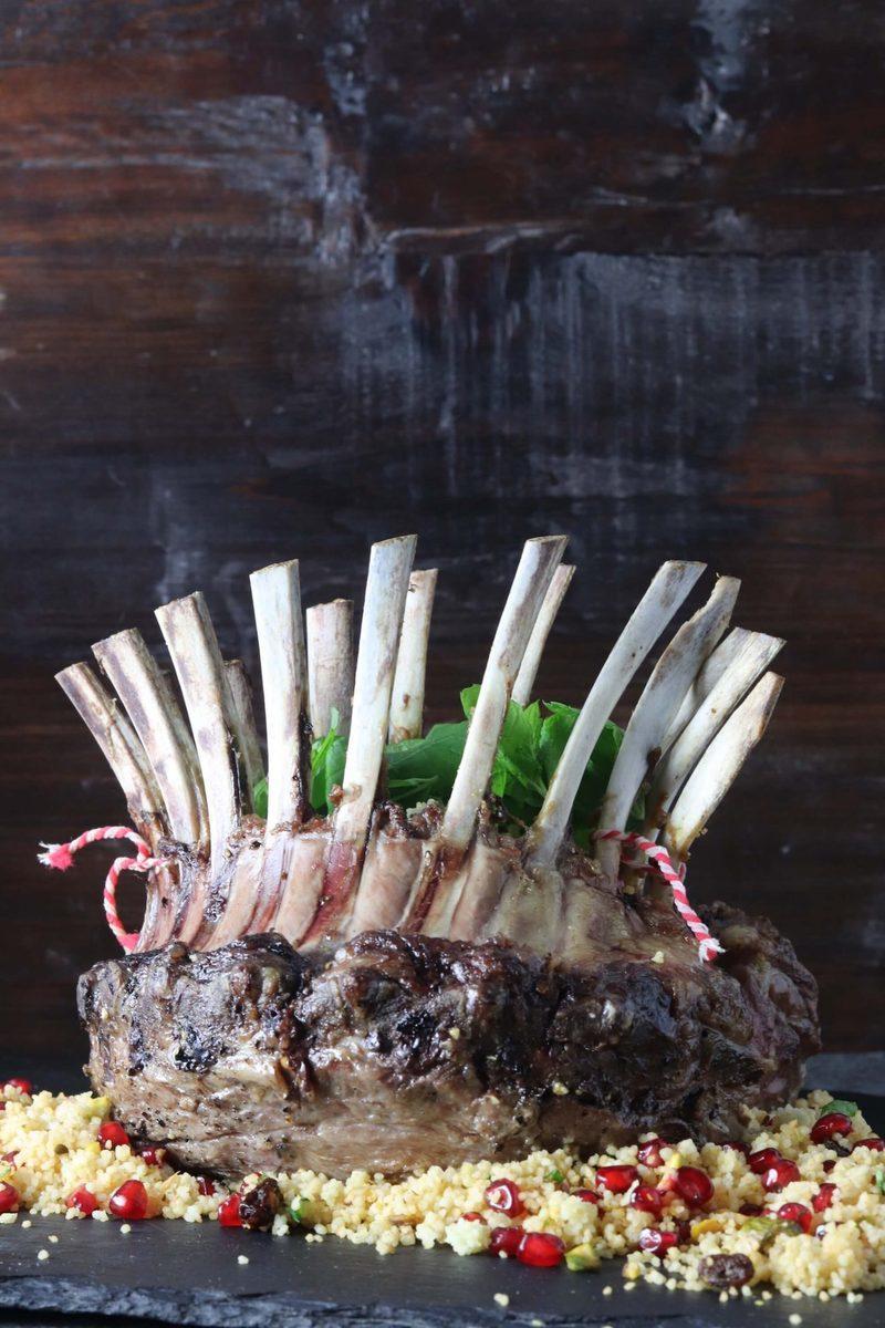 Rezept Lammkrone auf Granatapfel-Couscous