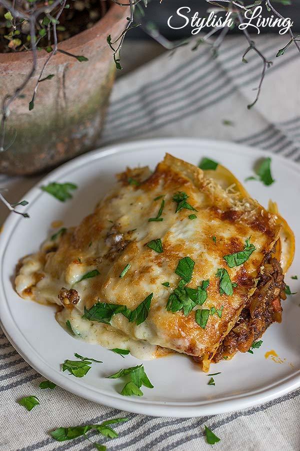 Rezept  Lasagne Bolognese mit Béchamelsauce