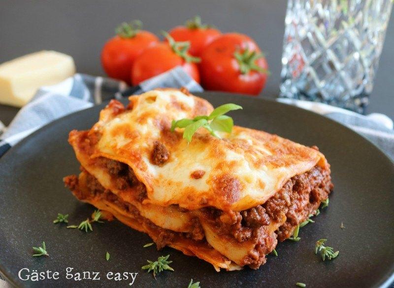 Rezept Lasagne Bolognese