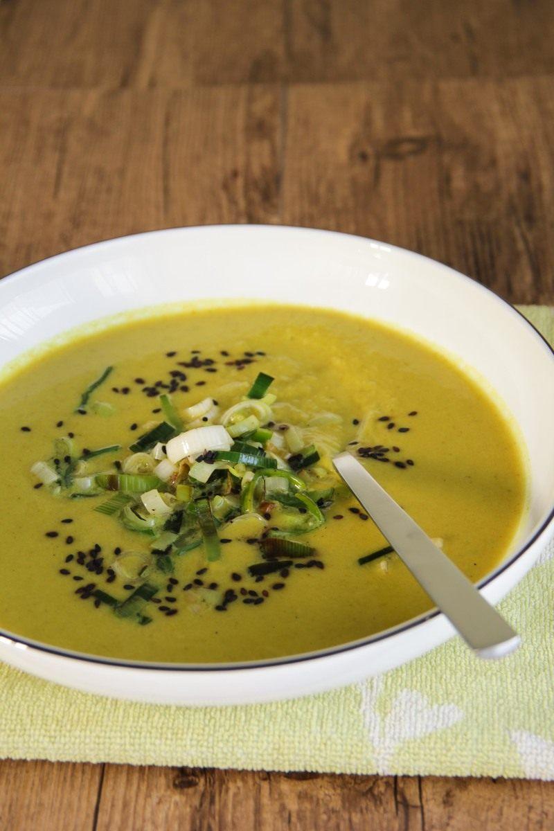 Rezept Lauchcremesuppe mit Curry & Apfel