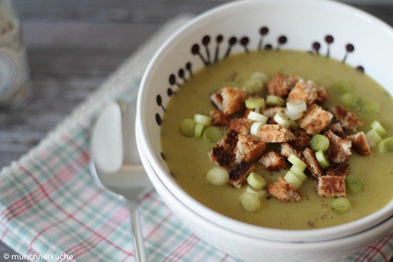 Rezept Lauchremesuppe mit Croûtons