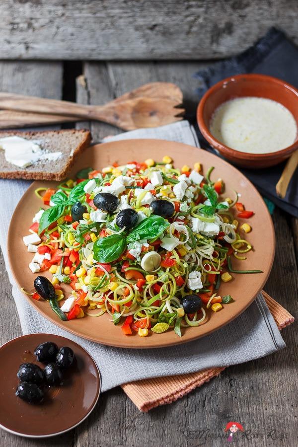 Rezept Lauchsalat mit Oliven und Schafskäse-Feta