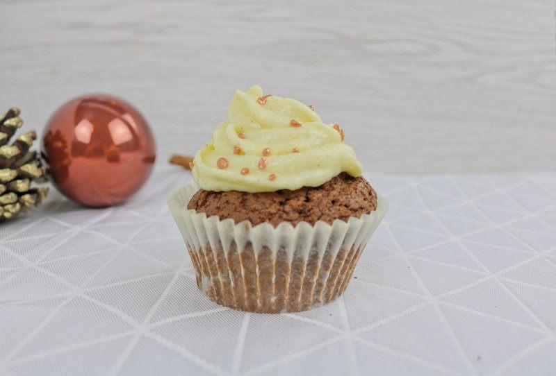 Rezept Lebkuchen-Cupcakes mit Vanillefrosting