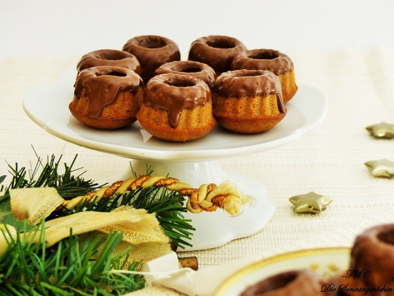 Rezept Lebkuchen Mini Gugl mit Schokoladenguss