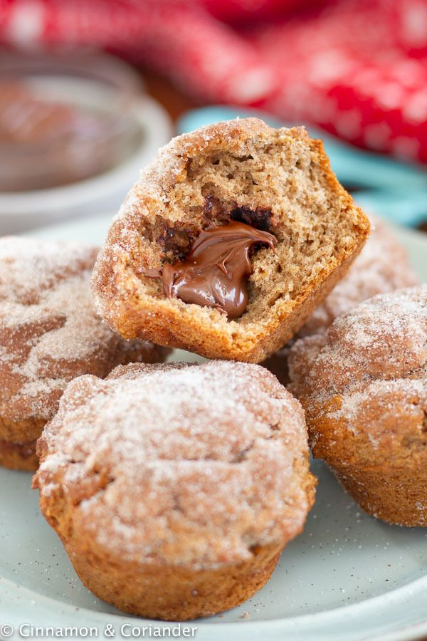 Rezept Lebkuchen Muffins mit Nutella Kern