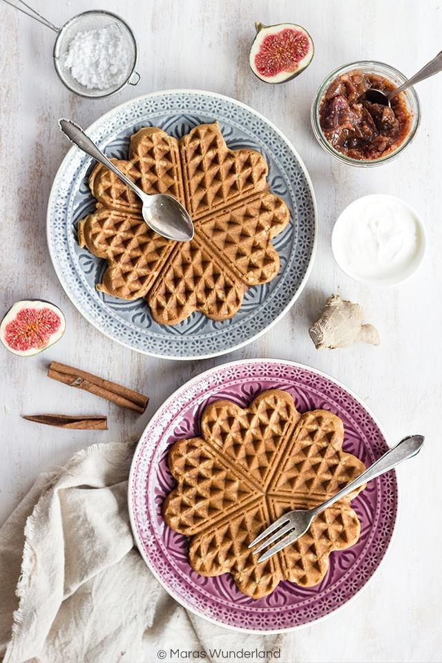 Rezept Lebkuchen-Waffeln mit Feigen-Mandelmarmelade