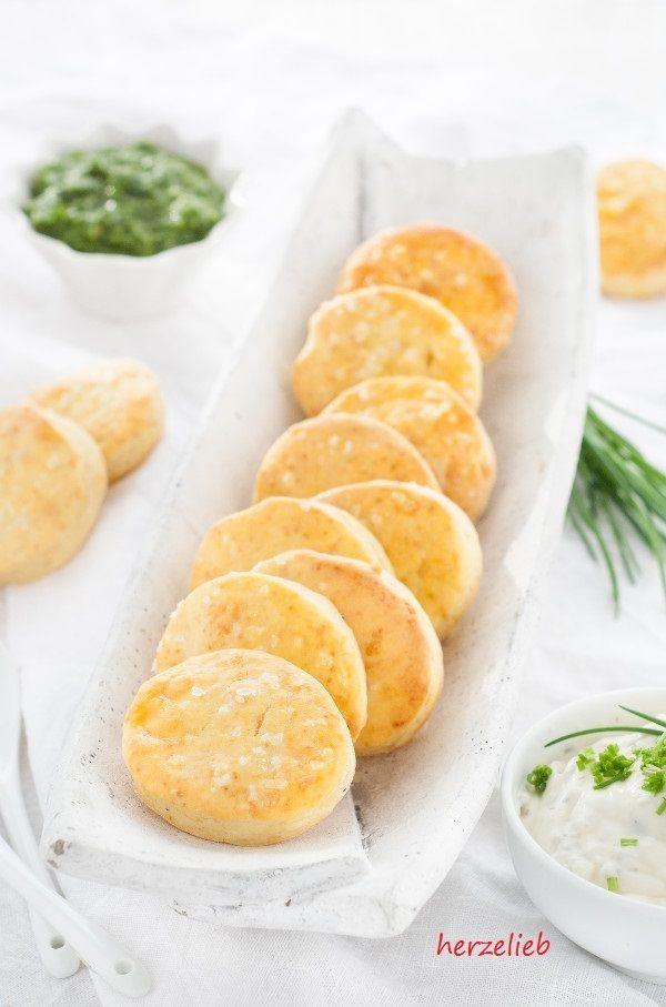 Rezept Leckere Kartoffelscones  mit Käse zum Dippen