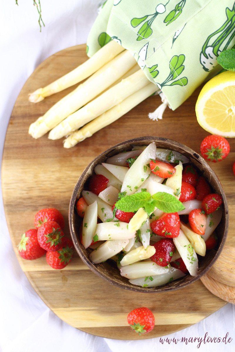 Rezept Leichter Spargel-Erdbeersalat mit frischer Minze
