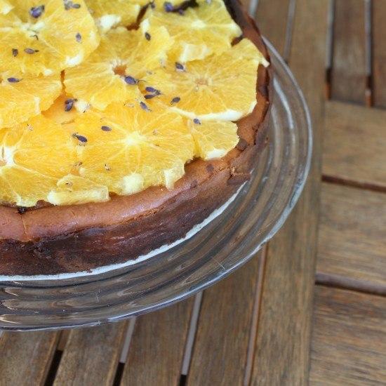 Rezept Lemon Curd-Ricotta Kuchen mit Orangen und Lavendel